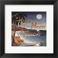 Framed Hula Moon Beach
