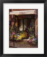 Parisian Flower Shop Framed Print