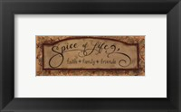 Framed Spice Of Life - Petite