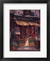 Montmarte Wine Shop Framed Print