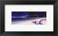 Secluded Beach I Framed Print