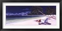 Secluded Beach I Framed Print