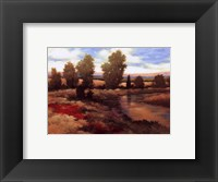 Framed Warm Spring I