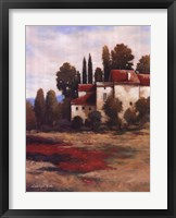 Red Roofs I Framed Print