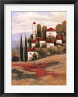 Red Roofs II Framed Print