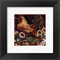 Framed Rooster Harvest