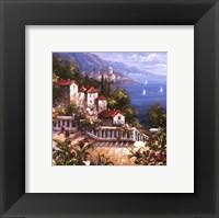 Mediterranean Arches III Framed Print