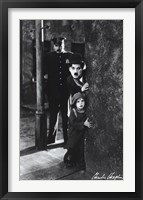 Framed Charlie Chaplin - The Kid
