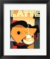 Framed Cubist Latte