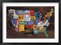 Framed Usa Map II
