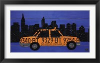 Framed Nyc Taxi Cab