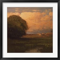 Framed Evening Across The Marsh