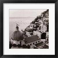 Framed Positano Vista