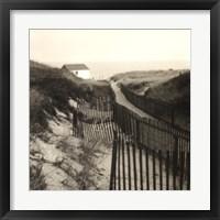 Dune Fence Framed Print