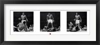 Framed Muhammad Ali - 1965 1st Round Knockout Against Sonny Liston - Triptych