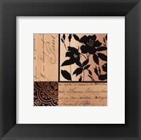 Framed Noir Et Creme II