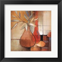 Afternoon Bamboo Leaves I Framed Print