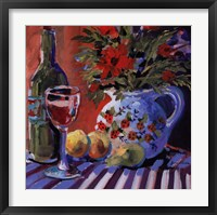 Framed Red Wine And Table