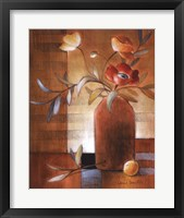 Framed Afternoon Poppy Still Life II