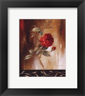 Framed Crimson Rose I