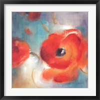 Framed Scarlet Poppies In Bloom II