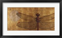 Dragonfly On Gold Framed Print