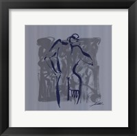 Body Language VIII (silver) Framed Print