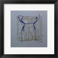 Body Language XII (silver) Framed Print