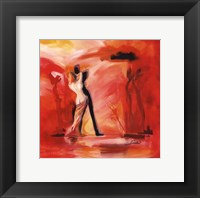 Romance in Red II Framed Print