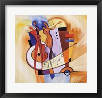 Jazz on the Square Framed Print