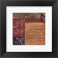 Framed Words to Live By - Hope