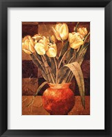 Framed Checkered Tulips I