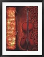 Framed Red Cello