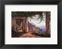 View to the Amalfi Coast Framed Print