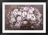 Framed Bouquet of Petunias