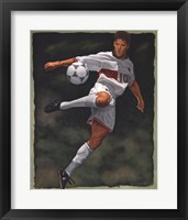Framed Art of Football - Scissor Kick