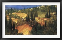 Framed Hillside - Tuscany