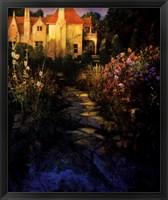 Framed Garden Walk at Sunset
