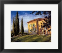 A Rural Villa Framed Print