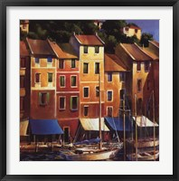 Portofino Waterfront Framed Print