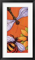 Framed Dragonfly and Bumblebee