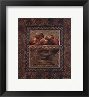Framed Rustic Bowl of Apples