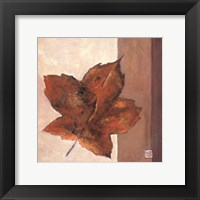 Framed Leaf Impression - Rust