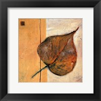 Framed Leaf Impression - Ochre