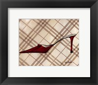 Poussoir Rouge II Framed Print