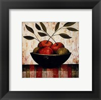Fruit Bowl on Silk Framed Print