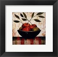 Framed Fruit Bowl on Silk