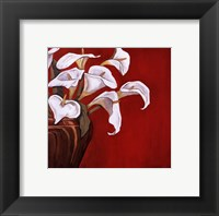 Callas on Red Framed Print