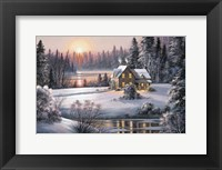 Framed Winter Sunset