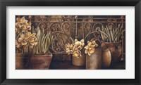 Framed Ironwork with Daffodils